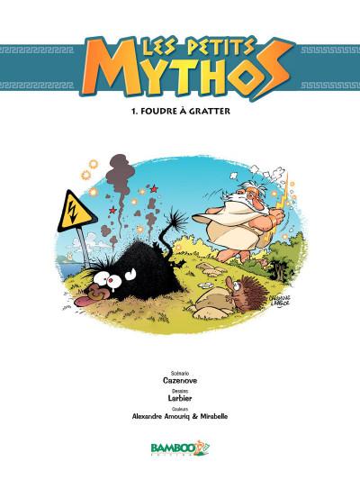 Page 1 Les petits mythos tome 1 - foudre à gratter