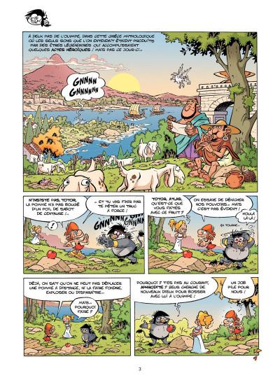 Page 2 Les petits mythos tome 1 - foudre à gratter