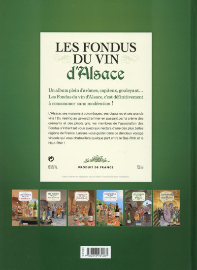 Dos Les Fondus du vin - Alsace