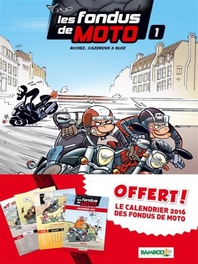 image de Les Fondus de moto tome 1 - pack calendrier
