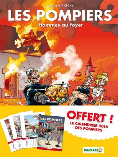 Couverture Les Pompiers tome 2 - pack calendrier 2016