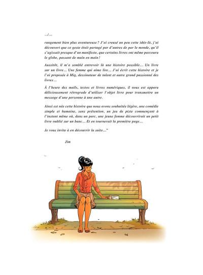 Page 7 Un petit livre oublié sur un banc - intégrale