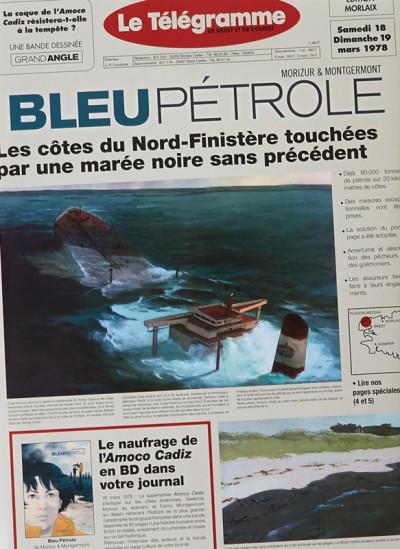 Couverture Bleu pétrole - édition jaquette
