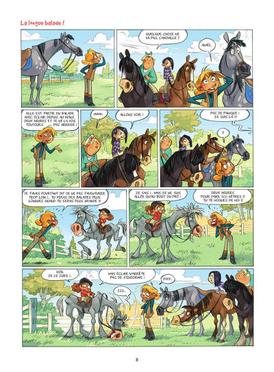 Page 9 Camomille et les chevaux tome 6
