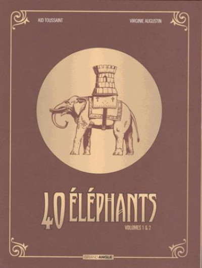 Couverture 40 éléphants - écrin tomes 1 et 2
