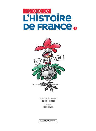 Page 2 L'histoire de l'histoire de France tome 1