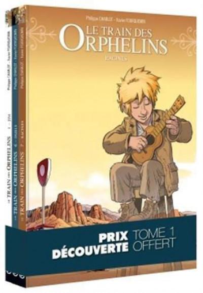 Couverture Le train des orphelins - pack découverte tomes 1 + 7 + 8