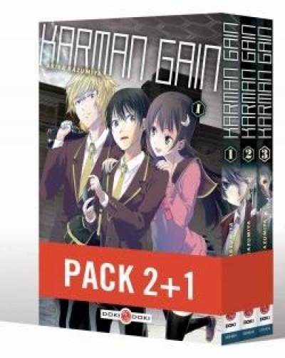 Couverture Karman gain - pack tomes 1 à 3