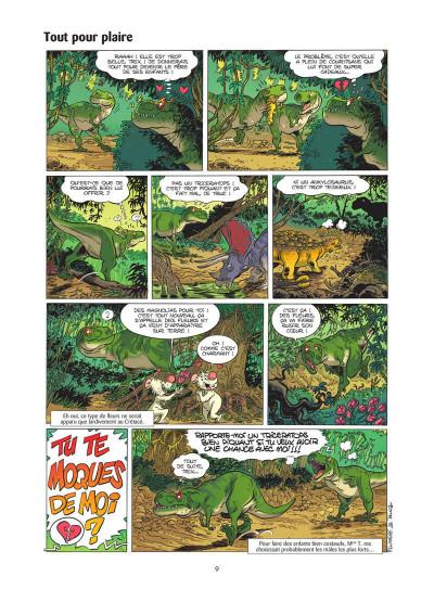 Page 0 Les dinosaures en BD tome 5
