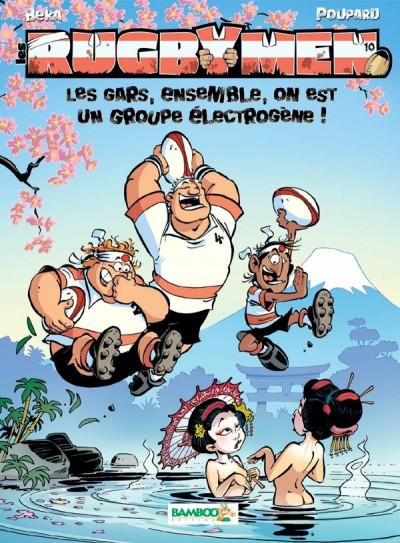 Couverture Les rugbymen tome 10 (jeu inclus)