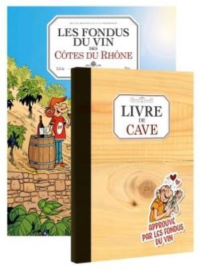 Couverture Les fondus du vin - Cotes du Rhône + livre de cave offert