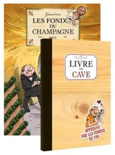 Couverture Les fondus du vin - Champagne + livre de cave offert