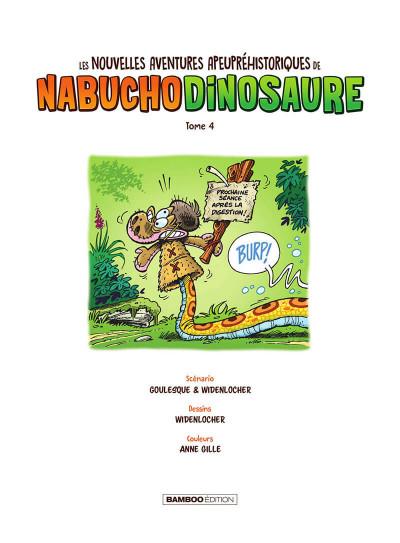 Page 2 Les nouvelles aventures apeupréhistoriques de Nabuchodinosaure tome 4