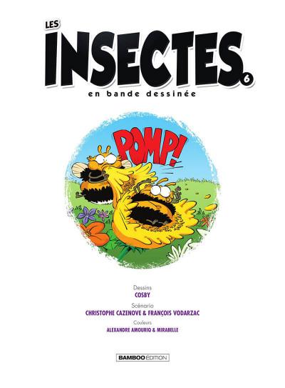 Page 2 Les insectes en BD tome 6
