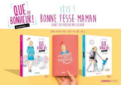 Couverture Que du bonheur (ou presque...) tome 1 + carnet mots d'enfants