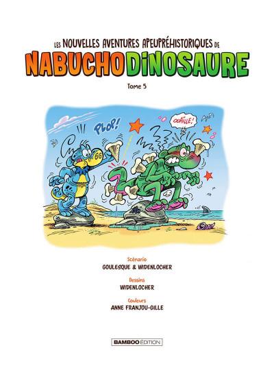 Page 2 Les nouvelles aventures apeupréhistoriques de Nabuchodinosaure tome 5
