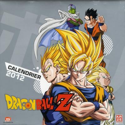 Couverture dragon ball z calendrier 2012
