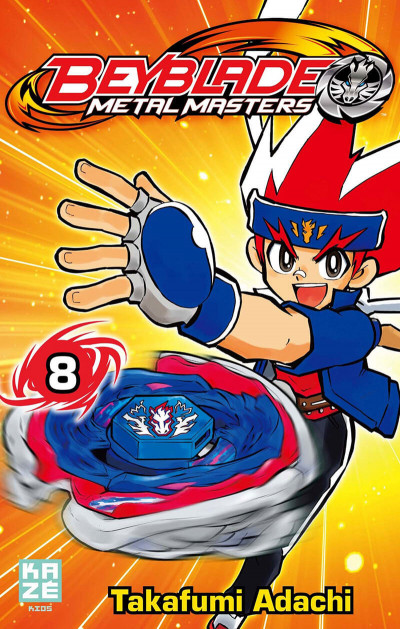 Couverture beyblade metal masters tome 8
