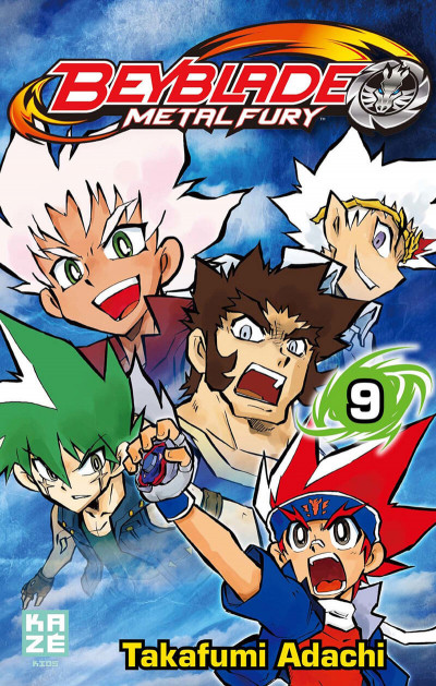 Couverture beyblade metal fury tome 9