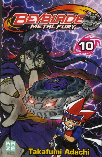 Couverture beyblade metal fury tome 10