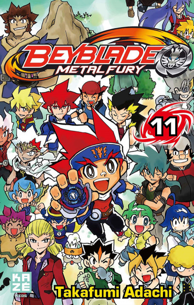 Couverture beyblade metal fury tome 11