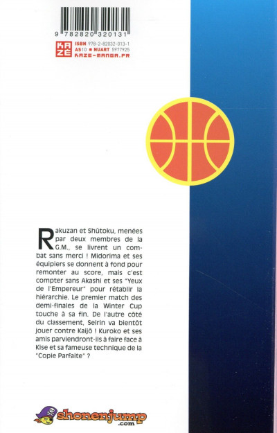 Dos Kuroko's Basket tome 21