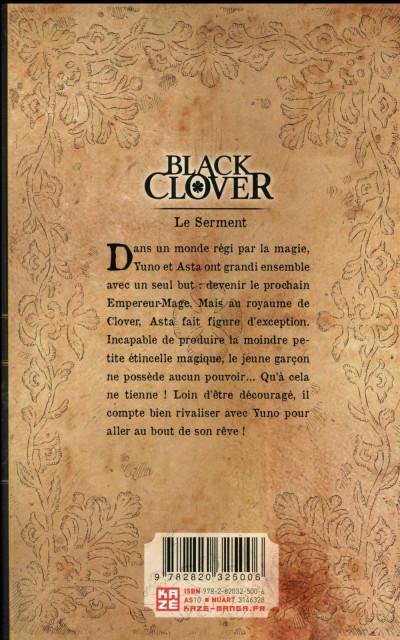 Dos Black clover tome 1