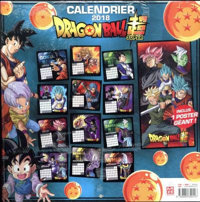 Dos Dragon Ball Super - calendrier 2018