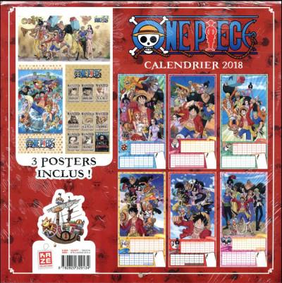Dos One Piece - calendrier 2018
