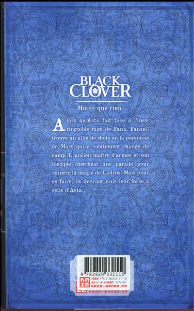 Dos Black clover tome 11