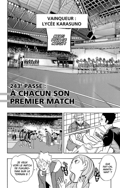 Page 7 Haikyu !! - Les as du volley tome 28