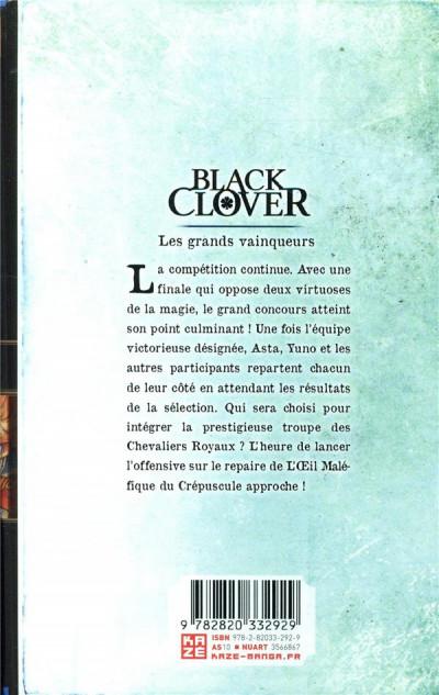Dos Black clover tome 15