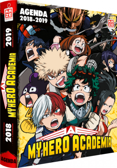 Couverture My hero academia - agenda 2018/2019
