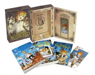 Couverture The promised nerverland - coffret tome 9 + roman