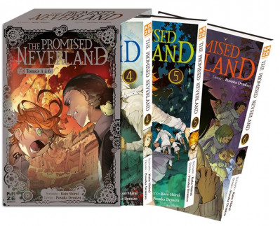 Couverture The promised neverland - coffret tomes 4 à 6