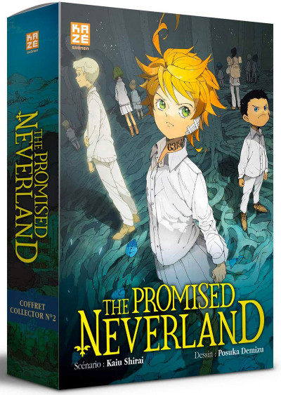 Couverture The promised neverland coffret tome 12 + roman Souvenirs de Maman