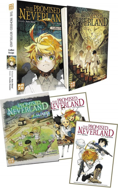 Couverture The promised Neverland tome 13 - éd. collector escape
