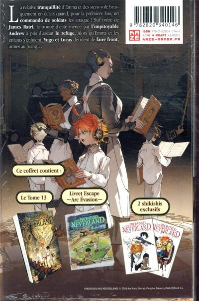 Dos The promised Neverland tome 13 - éd. collector escape