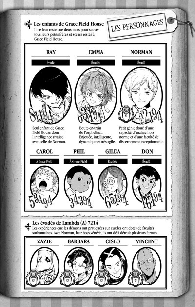 Page 3 The promised neverland tome 18