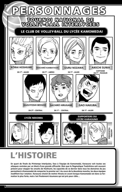 Page 4 Haikyu !! - Les as du volley tome 40