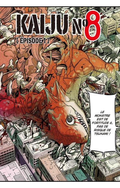 Page 3 Kaiju n°8 tome 1