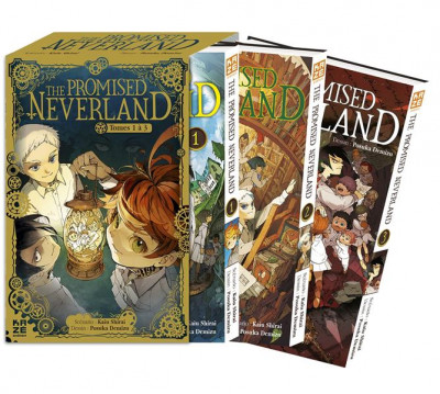 Couverture The promised neverland - coffret tomes 1 à 3