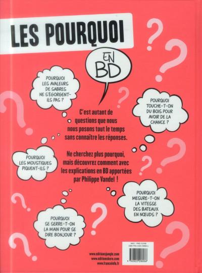 Dos Les pourquoi en BD tome 1