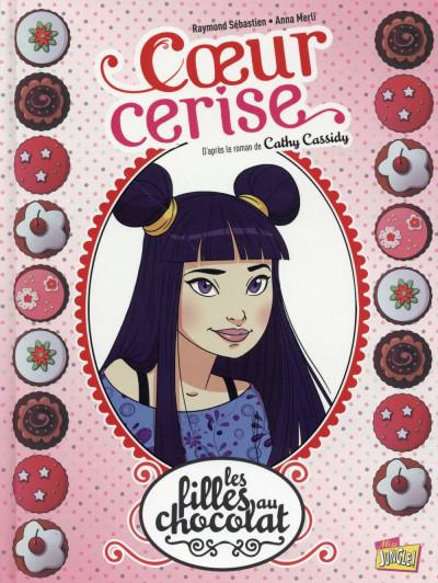 Couverture les filles au chocolat tome 1 - coeur cerise