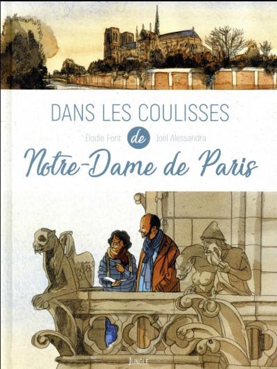 Couverture Dans les coulisses Notre Dame de Paris