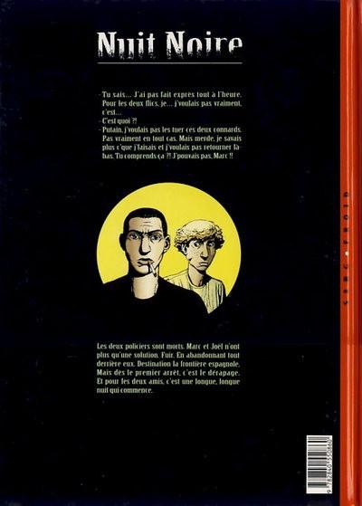 Dos nuit noire tome 1 - fuite
