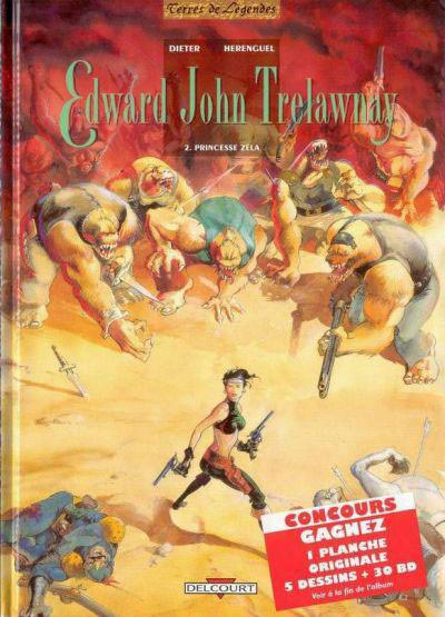 Couverture Edward John Trelawnay tome 2 - princesse zela