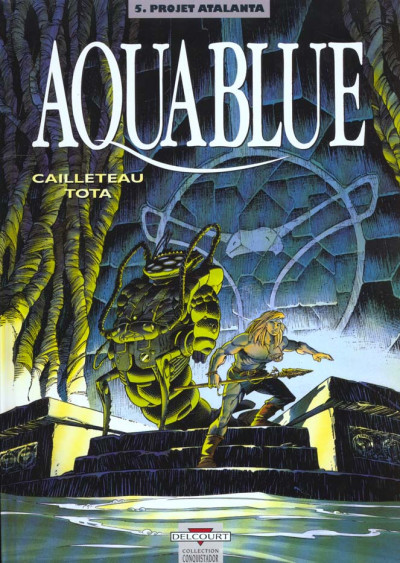 Couverture aquablue tome 5 - projet atalanta
