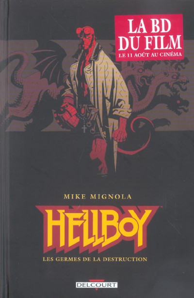 Couverture hellboy tome 1 - les germes de la destruction