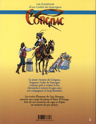 Dos Cotignac, les aventures d'un cadet de Gascogne tome 2